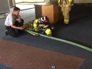 Survival techniques taught to firefighters