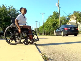 Delray teen highlights issues with sidewalks