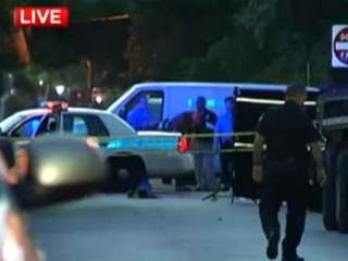 Man seen stabbing woman shot by Miami officer