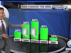 Rain chances and heating up
