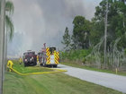 Brush fires spark on the Treasure Coast