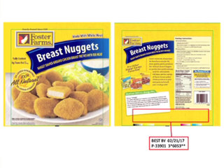 Foster Farms is recalling chicken nuggets
