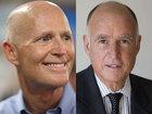 California governor rips Florida's governor