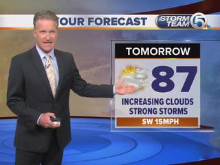 Severe storm threat on Wednesday