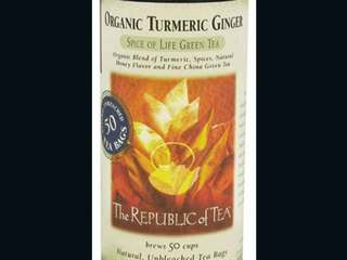 'Organic Turmeric Ginger' green tea recalled