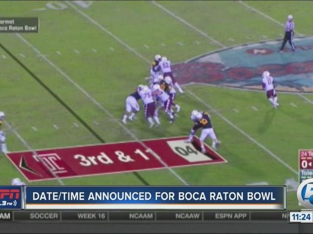 Date set for Marmot Boca Raton Bowl