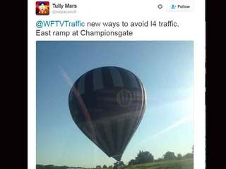 Hot air balloon lands on I-4 ramp near Orlando