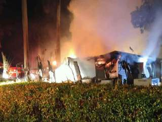 Blaze damages RV park in western PBC