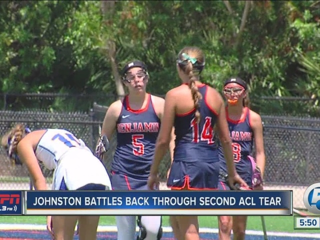 Benjamin lacrosse star battles back