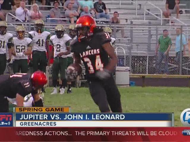 John I. Leonard wins spring game