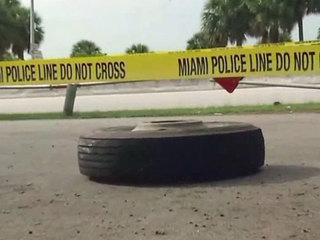 Jogger seriously injured by flying truck tire