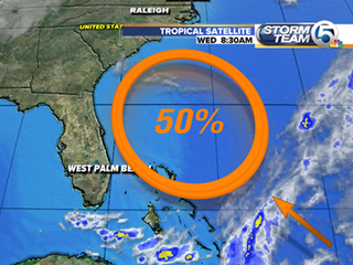 NHC now gives system 50% chance of forming