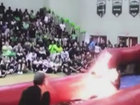 District finishing report on fire-breather stunt