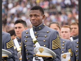 Photo shows West Point grad's 'greatest honor'