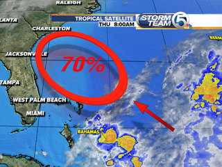 NHC now gives system 70% chance of forming