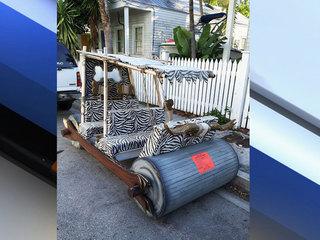 Flintstones car found parked illegally in Keys