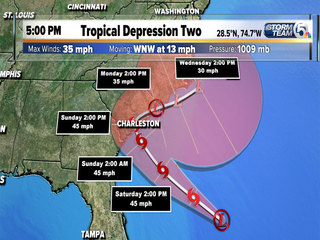 Tropical Depression 2 update