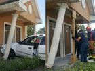 Car crashes into building in Fort Pierce