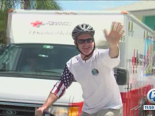 Steve Weagle begins 'Ride for the Red Cross'