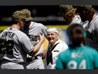 92-year-old World War II vet throws first pitch