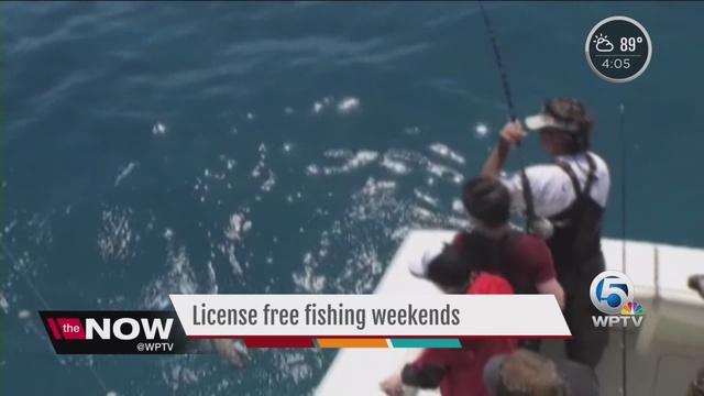 2 florida license free fishing weekends in june