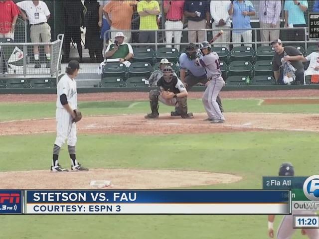 FAU stays alive in Regional, beats Stetson, 8-4
