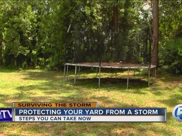 Protecting your yard from a storm