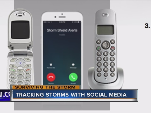 Tracking storms with social media