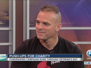 'Pushups For Charity' campaign benefits military