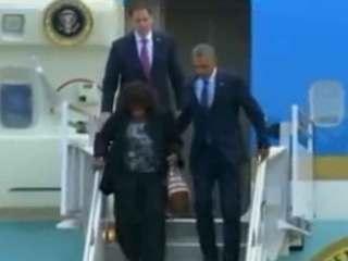 President obama arrives in orlando for Pool show in orlando 2016