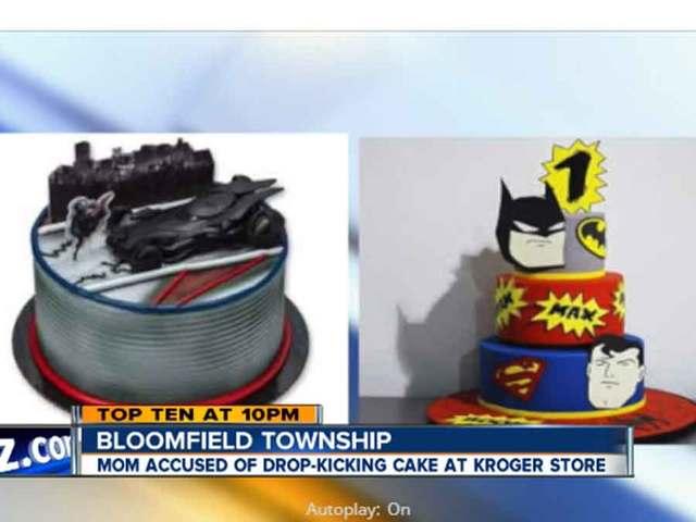 Angry Mom Drop Kicks Boys Birthday Cake At Kroger Bakery