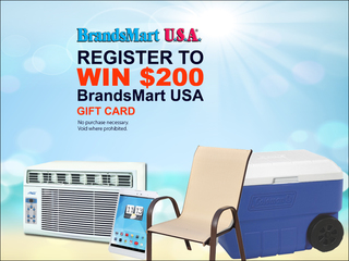 Enter to win a $200 BrandsMart USA gift card
