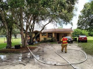 Fire affects residents in Okeechobee County