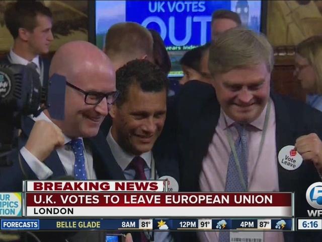 Global markets plunge after Britain decides to leave EU