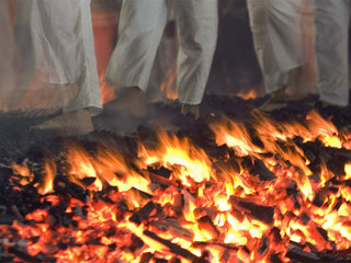 More than 30 people burned in hot-coals walk