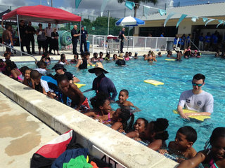 Delray swim lesson aims to prevent drownings