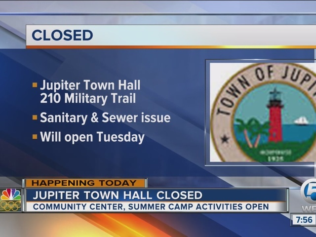 Jupiter Town Hall closed for sewer issue