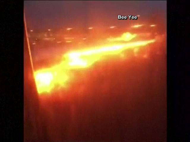 Singapore Airlines jet catches fire, but all passengers safe
