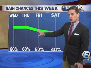 Better storm chances Wednesday