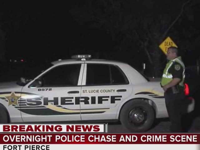 Overnight police chase in St. Lucie County