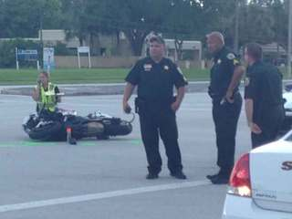 Motorcyclist who ran into deputy arrested