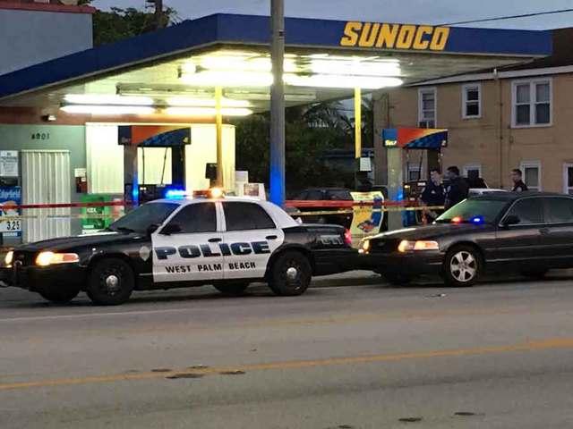 Police investigate death near West Palm Beach gas station