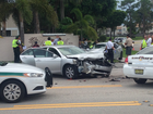 4 hurt in 2 vehicle crash in Palm Beach County
