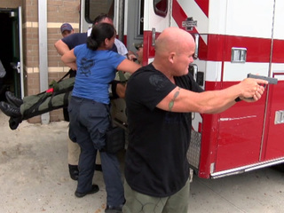 Firefighters, deputies team up for shooter drill