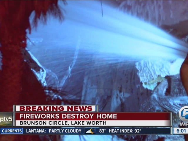 Fire destroys house in suburban Lake Worth