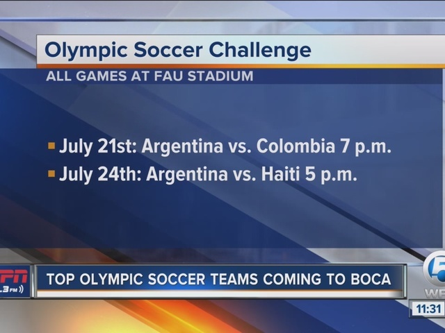 Argentina and Colombia soccer team coming to Boca Raton
