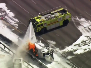 Truck fire shuts Turnpike in Miami-Dade