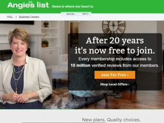 Angie's List now free