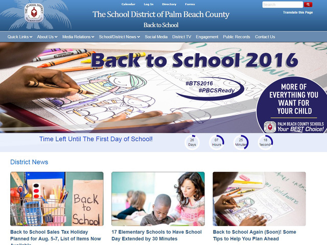 School district launches Back to School website