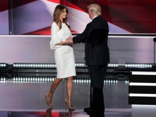 Melania Trump's dress sells out after speech